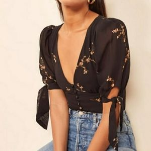 Reformation Ani Top in WILDFLOWER
